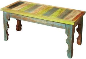 BENCH RUSTIC ARTIFACTS DISTRESSED ACID WASH ASSORTED OLD COLLECTED RECY