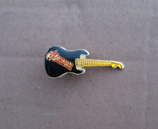 VINTAGE 1980s SAXON guitar shaped enameled logo pin badge heavy metal