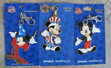 New listing New Lot 3 Disney Pin Trading Lanyard Medals Mickey Mouse Usa 2005 Cloisonne