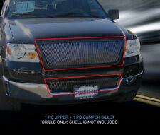 Fits 2004-2005 Ford F-150 Billet Grille Grill Combo Vertical