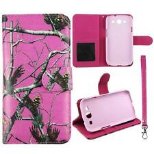 Flip Wallet Camo Pink Pine Rt For Samsung Galaxy S 3 i9300 Pu Leather Cover Case