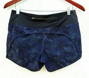 "New LULULEMON RUN TIMES SHORTS II* 4"" Camouflaged Midnight Navy Black CAMO 4"