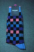 DUCHAMP London Men's Black Pink Blue Box Dress Casual Socks Size 9-12 New
