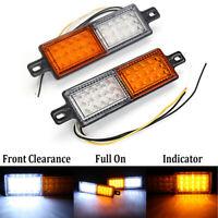 White Amber LED Front Indicator Park Lights TJM Bullbar Marker Lamp ARB Bar 12V