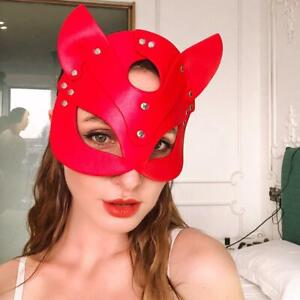 Sexy Women Mask Half Eye Cosplay Face Cat Leather Cosplay Masquerade