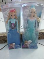 "Frozen Dolls Lot of 2 Elsa And Anna Mattel 12"" tall Disney Movie Ages 3+"