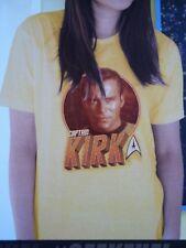 Geek fuel Tshirt M medium yellow star trek Kirk showdown code magazine + box