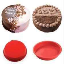 """6"""" Silicone Cake Mold Pan Dessert Muffin Pizza Pastry Baking Tray Mould Decor JA"""