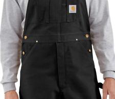 NEW!!! Carhartt Men's Duck Bib Overall Unlined R01,Black, 30 x 36