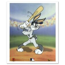 """Looney Tunes """"Bugs Bunny At Bat (Yankees)"""" Limited Edition Sericel Animation Art"""