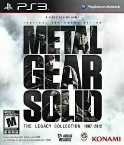 Metal Gear Solid: Legacy Collection Playstation 3 PS3 (No Artbook)