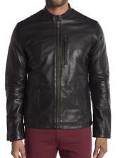 John Varvatos Black Leather Jacket Size L NWT $698