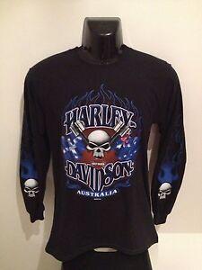Harley Davidson Piston Skull Long Sleeve T-Shirt - Small Only