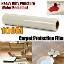 100M Carpet Floor Protection Protector Film Self Adhesive Clear Roll Cover Film