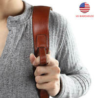 Tourbon Rifle Gun Sling Straps Non-slip Hunting Padded Rest Hole Genuine Leather