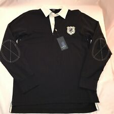 Daniel Cremieux Links Long Sleeve Rugby Shirt Men's Size M Classic Navy NWT $78+