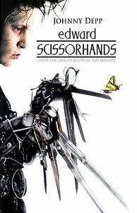 Edward Scissorhands movie poster (c)  : 11 x 17 inches  - Johnny Depp poster