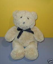"""13"""" Kids Preferred Teddy Bear Soft Plush Baby Cub Lovey w/ Stitch Ribbon"""