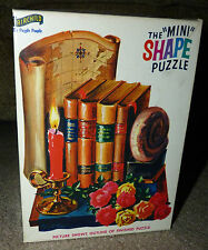 VINTAGE New Sealed in Box FAIRCHILD MINI SHAPE PUZZLE BOOKS MAP FLOWERS CANDLE !