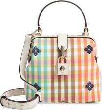 Kate Spade Women's Remedy Bella Plaid Small Top Handle Satchel Crossbody Bag