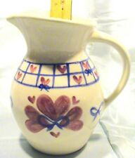 New listing Vintage Collectible Shannon & Daughters Large Round Pitcher - Ribbons