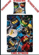 Biber Kinder-Wende-Bettwäsche Lego Ninjago Movie Battle 135 x 200cm + 80 x 80cm