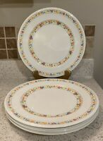 "Set of 4 Vintage Noritake Happy Talk 10 1/2"" Dinner Plates Versatone Japan"