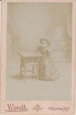 Cabinet Card Princess Wee Wee World Famous Barnum Midget Wendt Boonton NJ 1910