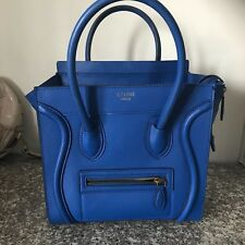 Celine Micro cobalt blue luggage bag