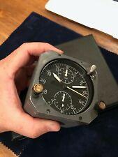 Vintage Jaeger LeCoultre 8 days aerosonic Boeing 707 cockpit clock - working