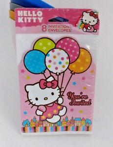 NEW Hello Kitty Happy Birthday Party Invitations & Envelopes AMC499303