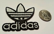 "ADIDAS PATCH  Logo PATCH embroidered iron on Patches   patch 2"" x 2"" WHITE"