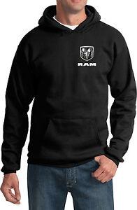 Mens Dodge Ram Logo Pocket Print Hoodie