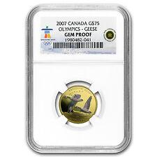 2007 Canada Gold $75 Olympics Canada Geese Gem Proof NGC - SKU #97646