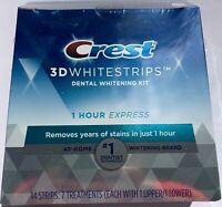 CREST 3D 1 HOUR EXPRESS Whitestrips White Strips Stripes Teeth Whitening Whiten