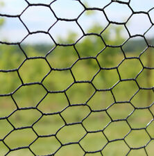 7.5' x 100' Deer Fence Steel Hex Metal Fencing Black Vinyl Coated