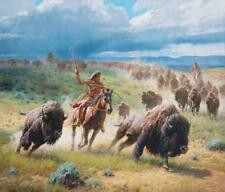 Martin Grelle Chasing Thunder Artist Proof Giclee on Canvas