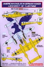 KORA Decals 1/72 LOCKHEED F-5E LIGHTNING American Aircraft in German Hands