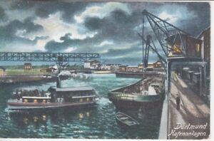 Ansichtskarte Nordrhein - Westfalen Dortmaund Hafenanlagen Schiffe