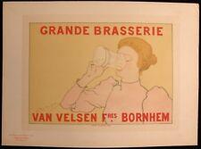 """ARMAND RASSENFOSSE """"GRANDE BRASSERIE VAN VELSE"""" PLANCHE DES MAITRES DE L'AFFICHE"""