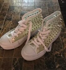 "UNIF Koop 2"" Platform Clear Spike Studs Sneakers Shoes Punk Size 7"