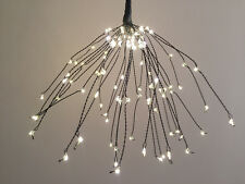 99 LED WARM WHITE 3AA Battery CASCADE BALL EFFECT String Light+Remote+Timer