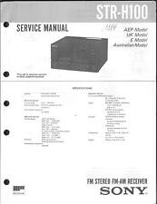 Sony Original Service Manual per STR-H 100