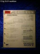 Sony Service Manual TC R707 / R707M Cassette Deck (#0319)