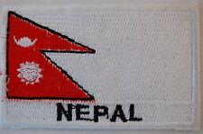Ecusson brodé patch thermocollant Drapeau NEPAL