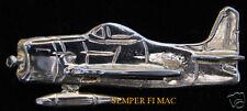 F8F BEARCAT GRUMMAN GOLD 3D PIN US NAVY MARINES WW 2