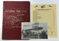 1987 Original Vintage Menu GLIDE'ER INN Restaurant Seal Beach CA Next To Airport