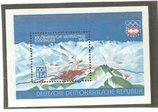 1975 EAST GERMANY MS E1820 INNSBRUCK WINTER OLYMPICS UNMOUNTED MINT