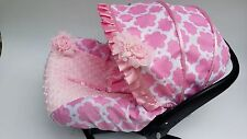 baby car seat cover canopy cover pink flower fit Most infant car seat