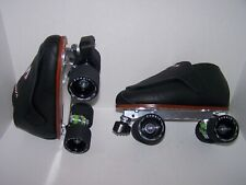 New Black Vanilla Freestyle Custom Leather Roller Skates Mens 8.5